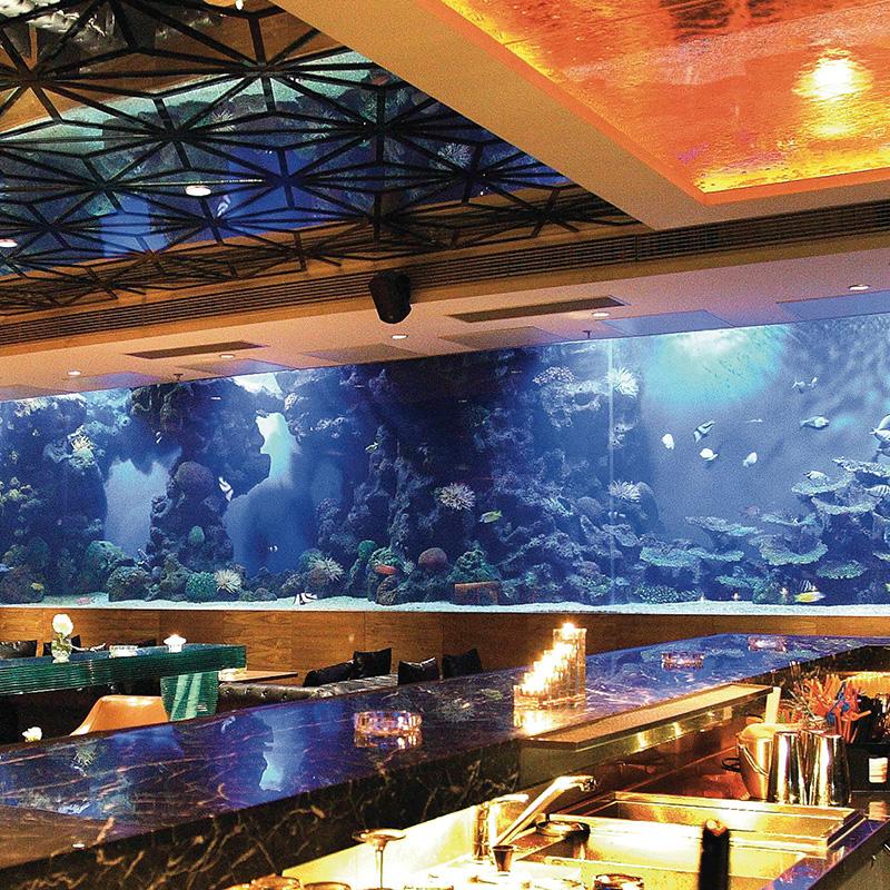 酒店方形亚克力鱼缸