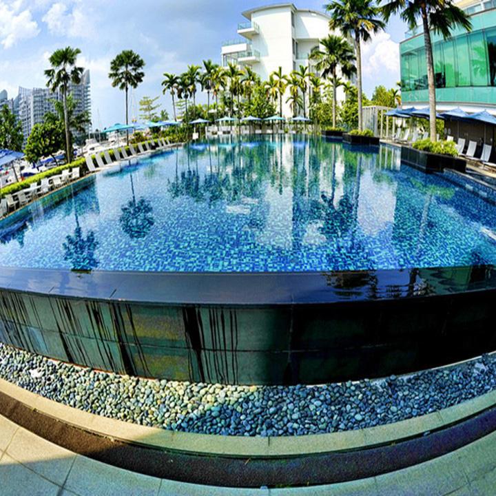 汇隆酒店室外亚克力游泳池